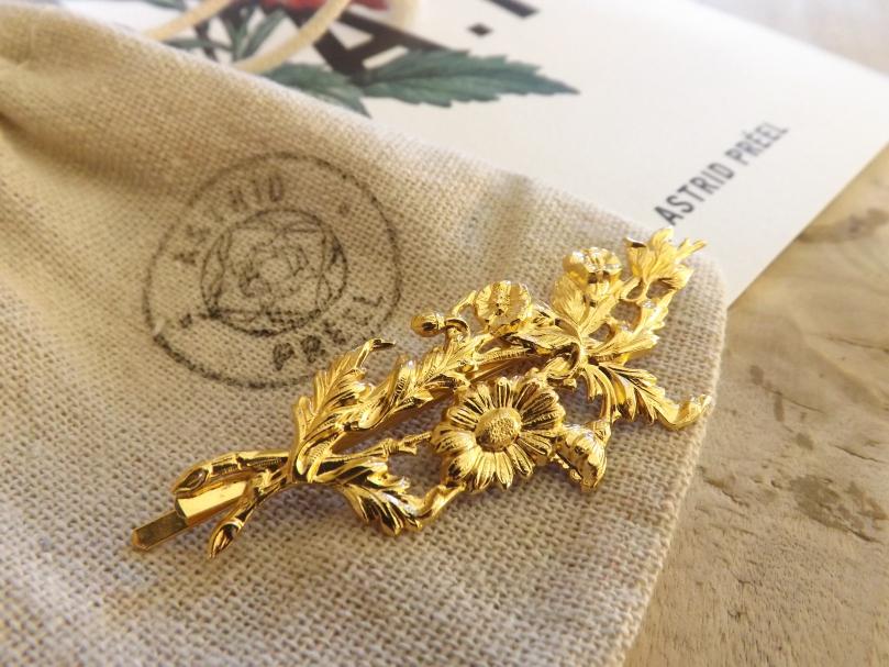 barrette en or bijou - Pull en Cachemire et Barrette or - La marque Astrid Préel