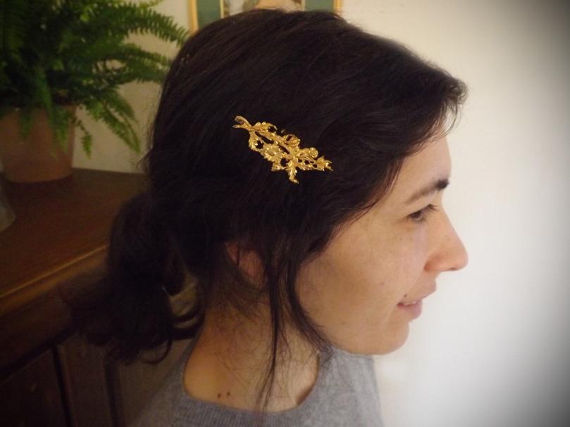 barrette en or femme - Pull en Cachemire et Barrette or - La marque Astrid Préel