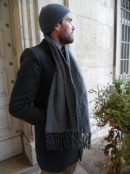 bonnet homme gris en cachemire freuviette - Quel bonnet choisir pour l'hiver : Di Carlo cachemire