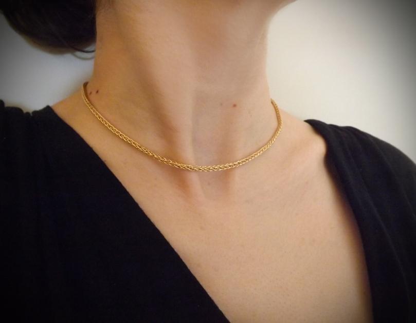 collier en or 18 carats - Collier Or jaune 18 carats un classique chic