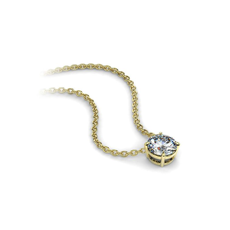 "pendentif diamant pure or jaune 030 carat - ""Pure"" Diamant naturel et or 18 carats - Joaillerie Celinni"
